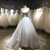 Long Sleeve High Collar Wedding Dress Bridal Gown S0036