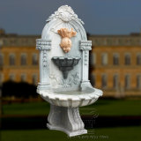 Natura Marble Goldfish Carving Wall Fountain for Garden Decoration