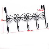 Metal Clothes Hook Rack Over Door 5 Garment Hook