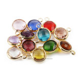 DIY Rim Rhinestone Birthday Crystal Stone Birthstone 9mm Round 12 Colors Pendant (BS-Round 9mm)
