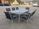 Steel 9PCS Furniture Dining Table and Chair Sets