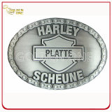 Fashion Design Embossed Metal Belt Buckle for Souvenir