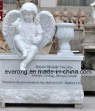 Hand Carved Child Weeping Angel Marble Granite Stone Tombstone and Monument