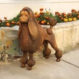 Life Size Brass Cast Hunting Poodle Statue for Home Decoration