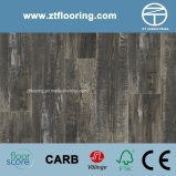 6.5mm WPC Click Flooring Black Hand Scraped Distressed Oak