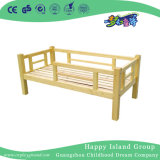 Natural Wooden Children's Twin Bed with Stair (HG-6507)