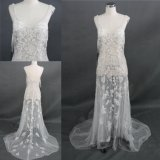 Wholesale Sexy Beading Sheer Lace Wedding Dress Bridal Gown