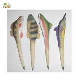 Wood Craft Ballpen with Lovely Wooden Anima Carved and Painted by Hand