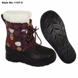 Red MID-Calf EVA Women Winter Snow Boot with Fur