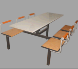 6 People Fast Food Restaurant Table and Chair