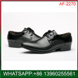 New Fashion Men Cheap Price Black PU Dress Shoes Wholesale