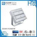 Brightness 80W LED Flood Light for Park Garden Outdoor with Meanwell Hlg Driver