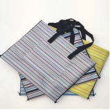 Packable Outdoor Waterproof Beach Blanket, Picnic Mat Built-in Tote Bag QH-006