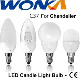 Dimmable C37 2.4W Samsung LED Chandelier Replacement Candle Light Bulb