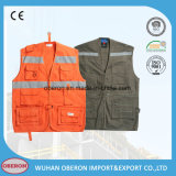 Reflective Safety Cotton Work Ore Vest
