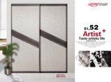 Morden Design PVC Shutter Series Wardrobe Sliding Door (yg-010)
