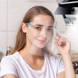 Reusable Anti-Fog Transparent Safety Pet Face Shield with Glasses Frame