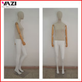 Fabric Covered Female Mannequin with Wooden Arm