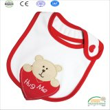 2017 Teddy Bear Embroidery Thick Baby Bibs