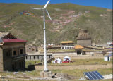 Ane Wind Power system for Micro Grid Use with Ptich Controlled Wind Turbine and Solar Energy