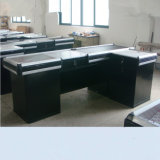 Suzhou Yuanda Supermarket Store Cash Counter with Conveyor Belt by Factory