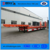 3 Axles 50 Tons Capacity Low Bed Semi Trailer for Machinery