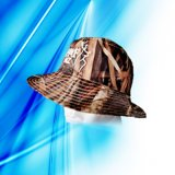 100% Polyester Man's Sublimation Print Bucket Cap