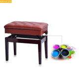 Midleford Musical Instruments Modern Wooden Piano Stool Bench Brown Piano Chair