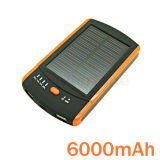 6000mAh Portable Solor Power Bank/ Emergency Charger with Best Quality
