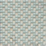 30*30mm Polished Porcelain Tile with White Stone Mosaic