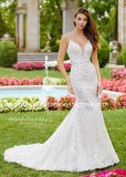 Spaghetti Straps Lace Bridal Dress Appliques Beaded Wedding Dress PA98073