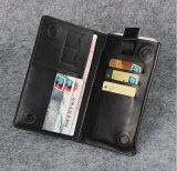 Genuine Leather Wallet Mobile Phone Case Card Slot for iPhone