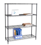 Adjustable DIY Portable 4 Tiers Black Metal Wire Book Rack Price 1200*350*1800
