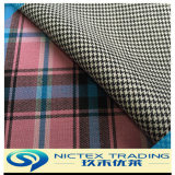 70% Wool Yarn Dyed Check Fabric, Worsted Suiting Fabric