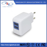 EU Plug Dual AC Wall Charger for Mobile Phone