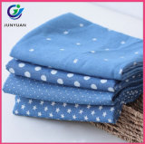 Blue Jean Knit 100% Organic Cotton Fabric Wholesale for Garment