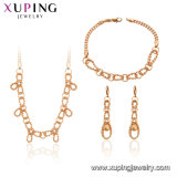 61389 Xuping 18K Gold Plated Fashion Chains Jewelry Set
