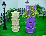 Wholesale Garden Vertical Stacking Tower Flower Pots