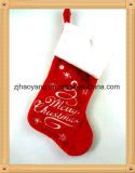 "20"" Christmas Tree Design Stocking with Fiber Optic"