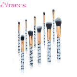 10PCS Professional Zebra Fashionable Makeup Brush Set
