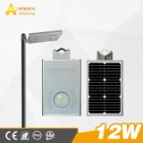 Factory Prices 5W/10W/15W/30W Integrated Lamp Solar LED Street Light with Lithium Battery