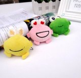 Promotional Colorful Small Creative Frog Stuffed Toy with OEM Brand