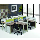 Premium Aluminum Alloy Frame Staff Desk (PS-P80-four person)