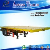 Flatbed Container Semi Trailer with Tri-Axle, Heavy Duty Flatbed Semi Trailer