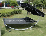 Sunshade Steel Frame Double Hammock Chair with Universal Wheel