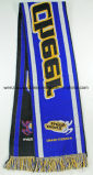 Promotion Soccer Acrylic Knitted Scarf