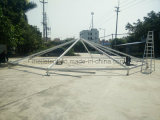 High-Class Hotel Marquee Glass Tent with Wood Grain Colored Frame