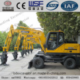 China New Small Wheel Excavator Grab Catching Sugarcane Machine for Sale