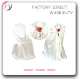 Loose Design White Fabric Rose Decorative Chair Covers (YT-78)