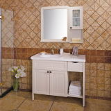 Oppein Free Standing White Matte Lacquer Bathroom Storage Cabinets (OP13-028-110)